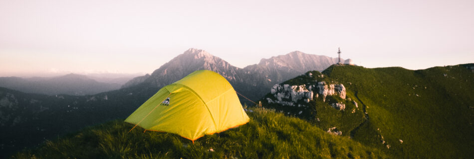 alba gopro montagna tenda